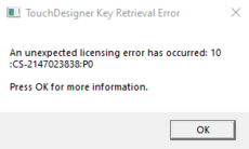 License Retrieval Error